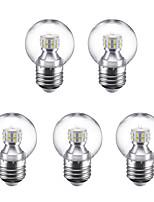 3W Lâmpada Redonda LED G45 24 SMD 2835 250 lm Branco Quente Branco Frio 220 V 5 pçs E27