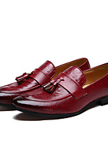 Men's Loafers & Slip-Ons Formal Shoes Microfibre Spring Summer Fall Winter Casual Outdoor Office & Career Party & Evening Tassel Flat Heel
