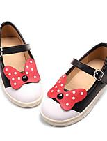 Девочки На плокой подошве Удобная обувь Весна Осень Дерматин Повседневные Черный Красный На плоской подошве