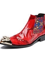 Men's Boots Amir's Fashion Boots Cowhide Leather Party & Evening Buckle Metallic toe Limited Edition