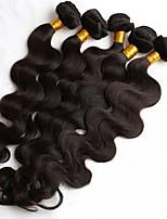5pcs / lot 8-26inch естественный цвет человеческих волос соткает бразильские текстуры тела человеческие волосы комплекты