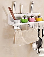 Single Cup Chopsticks Tube With Double Row Hook Kitchen Rack