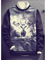 Men's Going out Sweatshirt 3D Print Crew Neck Micro-elastic Others Long Sleeve Spring Fall