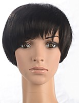 HairStyle Short Straight Synthetic Hair Cosplay Natural Black Wig Women Natural Hair Wig High Temperature Fiber Wig