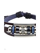 Муж. Кожаные браслеты Multi-камень Базовый дизайн Природа Геометрический бижутерия Мода Винтаж Панк По заказу покупателя Хип-хоп Ручная
