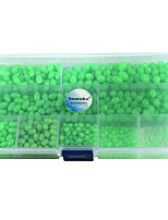 Anmuka 900Pcs Oval Mixed Size Luminous Fishing Beads Green Floating Plastic Fishing Beads with Fishing Tackle Box
