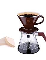 Кофе машина ручная стирка кофейник набор домой 4шт падение падение керамический фильтр чашка котлет горшок доля комбинация набор набор