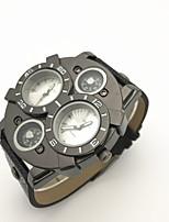 JUBAOLI Муж. Спортивные часы Армейские часы Уникальный творческий часы Китайский Кварцевый С двумя часовыми поясами Кожа ГруппаВинтаж