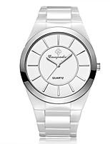 Муж. Нарядные часы Модные часы Китайский Кварцевый Крупный циферблат Керамика Группа Блестящие Белый