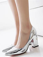 Women's Heels Comfort Spring Fall PU Casual Gold Silver 4in-4 3/4in