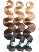 Омбре Индийские волосы Естественные кудри 18 месяцев 3 предмета волосы ткет кг Пряди с быстрым креплением