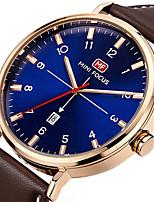 Hombre Reloj Deportivo Reloj de Moda Reloj de Pulsera Reloj creativo único Reloj Casual Cuarzo Calendario Cuero Auténtico Banda Encanto