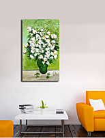 Hand-Painted Floral/Botanical Vertical Panoramic,Classic One Panel Canvas Oil Painting For Home Decoration