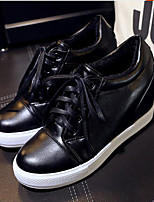 Women's Shoes PU Spring Comfort Sneakers For Casual White Black Silver