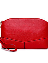 Women Shoulder Bag PU All Seasons Wedding Event/Party Casual Formal Office & Career Rectangle Zipper Pale Pink Red Black
