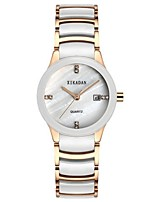 Women's Fashion Watch Quartz Ceramic Band White
