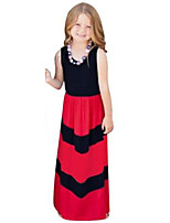 Girl's Birthday Casual/Daily Holiday Going out Striped Dress,Cotton Summer Sleeveless