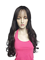Perruque longue perruque profonde perruque en fibre synthétique coiffure résistant à la chaleur pour les femmes
