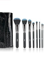 1set Makeup Brush Set Synthetic Hair Easy Carrying Multi-tool Easy to Carry Wood Men Face Men and Women Eye Daily Eyes Lips Lip