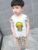 Boys' Color Block Sets,Others Summer Short Sleeve Clothing Set