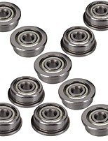 10Pcs Single Sided Flange Bearing Micro Stainless Steel F623ZZ  With Edge 3x10x4mm For 3D Printer
