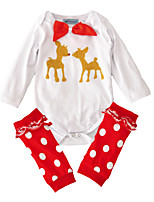 Baby Animal Print One-Pieces,Cotton Spring/Fall Summer Long Sleeve