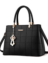 Women Bags All Seasons PU Tote with Chain for Wedding Event/Party Casual Outdoor Office & Career Black Dark Blue Wine
