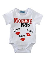 Baby Romper Lips Print One-Pieces Cotton Summer Short Sleeve Kids Girls Jumpsuits Bodysuits for Newborn Infant Boys