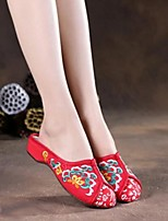 Women's Shoes Fabric Spring Comfort Slippers & Flip-Flops For Casual Red Blue