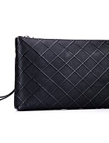 Unisex Bags All Seasons Cowhide Clutch with Rivet for Event/Party Formal Office & Career Black