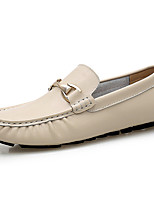 Men's Loafers & Slip-Ons Moccasin Nappa Leather Spring Summer Fall Winter Casual Office & Career Party & EveningLight Brown Blue Beige