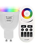 GU10 5W 2.4GHz RGB White Stepless Dimming Phone-Wifi Control Wireless Remote Control Smart Bulb Lighting AC85 - 265V with Remote Control