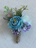 Wedding Flowers Grace Boutonnieres Wedding / Special Occasion Bead / Flax / Fabric Corsage for The Bridegroom 1 Piece