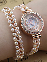 Жен. Модные часы Часы-браслет Кварцевый Металл Группа Золотистый