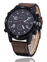 Mulheres Homens Relógio Esportivo Relógio Militar Relógio de Moda Relógio de Pulso Único Criativo relógio Relógio Casual Chinês Quartzo PU