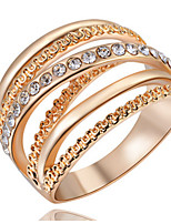 Ring Settings Band Rings Women's Euramerican Luxury Elegant Business Anniversary Party Movie Gift Jewelry