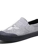 Men's Loafers & Slip-Ons Comfort Spring Fall Leatherette Casual Office & Career Party & Evening Animal Print Flat Heel Gray Black Flat