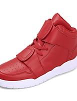 Для мужчин Кеды Удобная обувь Модная обувь Армейские ботинки Кожа Полиуретан Осень Зима Повседневные Шнуровка На плоской подошвеБелый