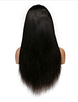 Straight Full Lace Human Hair Wigs With Baby Hair Natural Color Brazilian Remy Hair Lace Wigs For Black Women