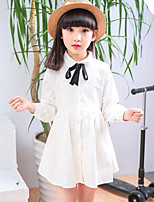 Girl's Patchwork Dress,Rayon Spring Fall Long Sleeve