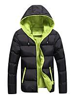 Пальто Простое Активный Панк & Готика Обычная На подкладке Для мужчин,Однотонный Контрастных цветовНа выход На каждый день Большие