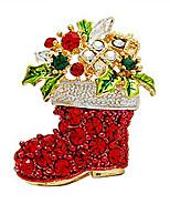 Жен. Девочки Броши Цирконий Богемия Стиль Позолота Бижутерия Назначение Свадьба Для вечеринок Официальные Рождество