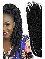 Tresses Twist La Havane boîtes Tresses Twist cubique Afro Rajouts Colorés Cheveux 100 % KanekalonNoir / Blond Fraise Noir / Medium Auburn