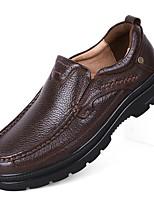 Для мужчин Мокасины и Свитер Удобная обувь Формальная обувь Обувь для дайвинга Осень Зима Натуральная кожа Наппа Leather КожаПовседневные