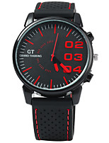 GT Japan Quartz Watch with Rubber Strap for Men - RED