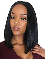 Lace Front Human Hair Wigs Unprocessed Virgin Brazilian BOB Straight Hair Wigs 130% Denisity For Black Women
