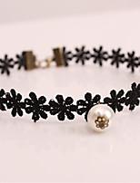 Femme Collier court /Ras-du-cou Imitation de perle Tissu Pelouche Mode Bijoux Pour Mariage Soirée Anniversaire Quotidien