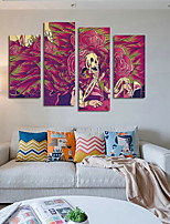 Four Panels Horizontal Print Wall Decor For Home Decoration