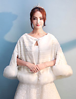 Women's Wrap Shrugs Faux Fur Wedding Party/ Evening Rhinestone