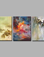 Chaos World 3 Panels 100% Hand-painted Oil Paintings on Canvas Modern Artwork Wall Art for Room Decoration 20x28inchx3
